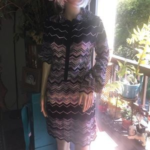 ITALIAN (MISSONI) viscose knit dress- Vintage